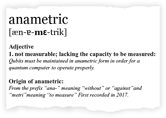 Definition of Anametric